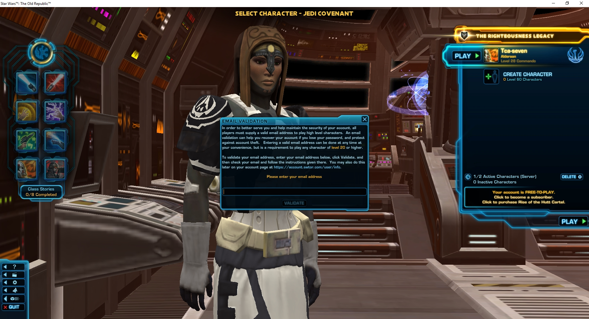 star wars the old republic free account
