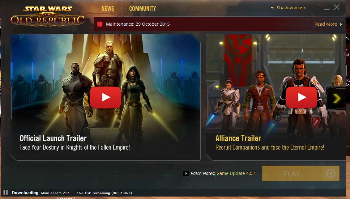 SWTOR 4.0.1 Launcher Problems: Reinstalling Main Assets - Answer HQ