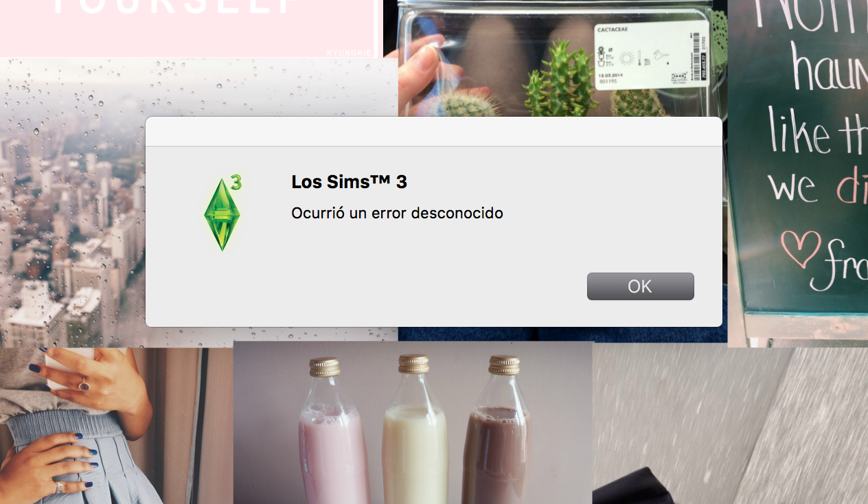 Solved: Mac: Error with sims 3