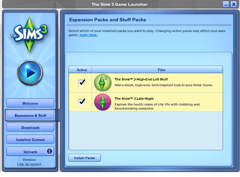 Solved: My Sims 3 Expansion Packs aren't showing up in-game