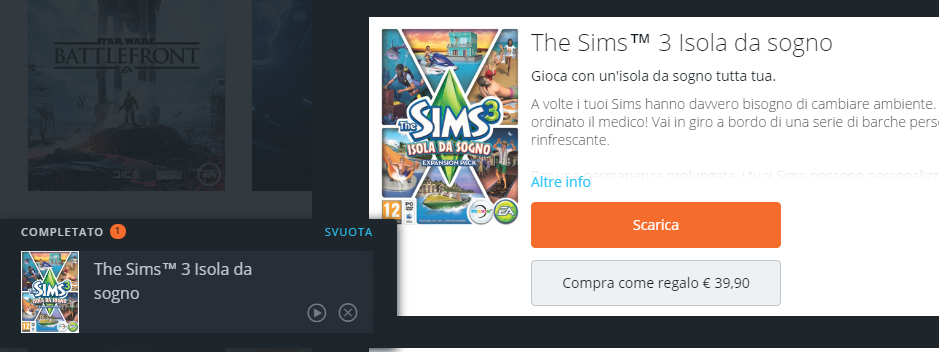 Pressing download on expansion pack in origin doesn't