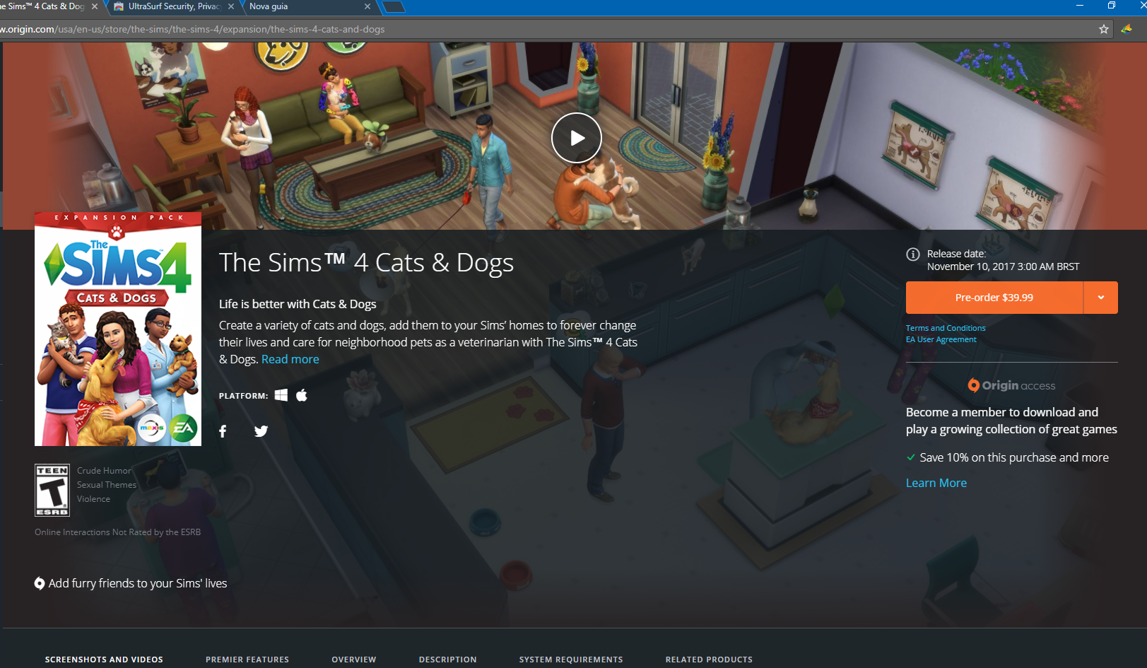 Sims  Cats And Dogs Black Friday