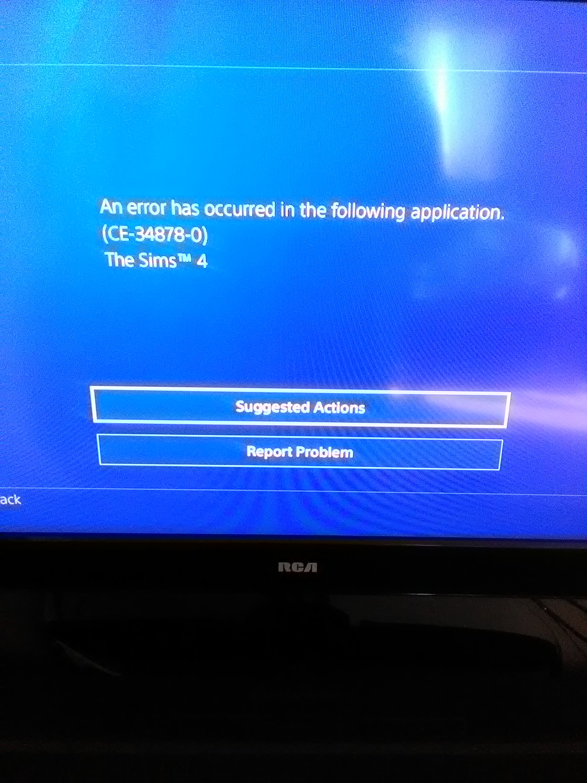 Sims 4 Error CE-34878-0 On PS4? - Answer HQ