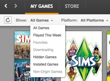 Re: origin mac my games list is empty