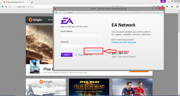 How to reset your Origin/EA Account password - Answer HQ