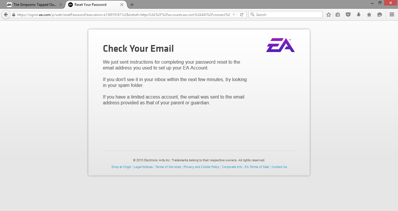 Account Password - To Your Answer ea Reset Hq Origin How