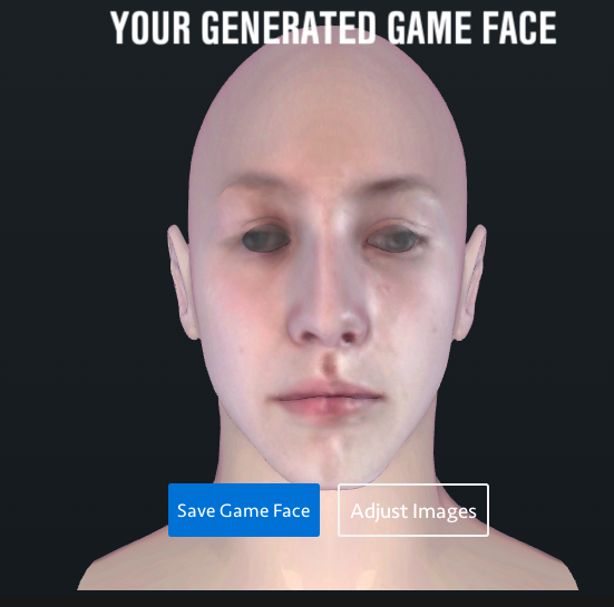 Ea sports game face under construction.