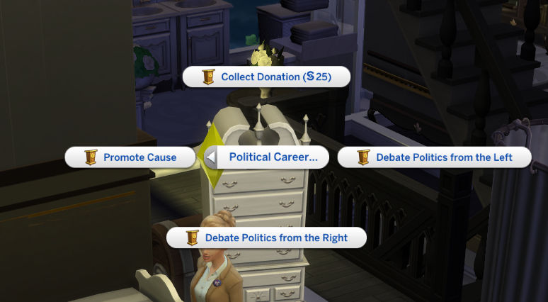 Solved: political career : interaction