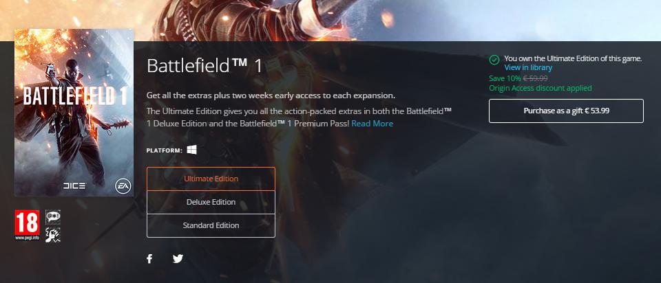 battlefield 1 online free