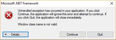 net.framework error