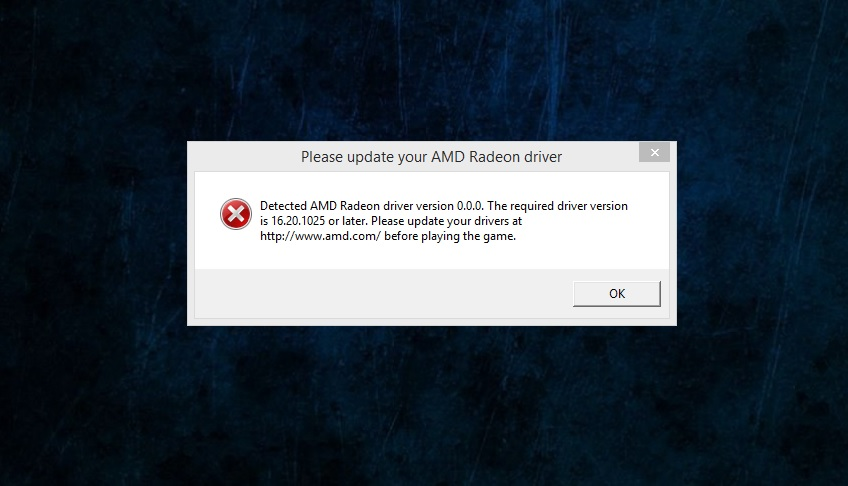 Please update your AMD Radeon driver - Answer HQ