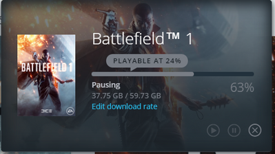 origin client freezing while downloading BF1 - Answer HQ