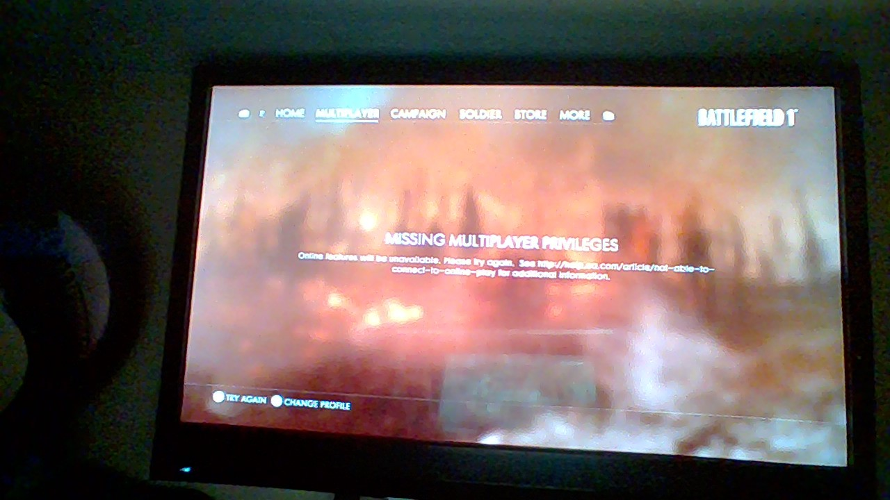 battlefront you are not allowed to access online features
