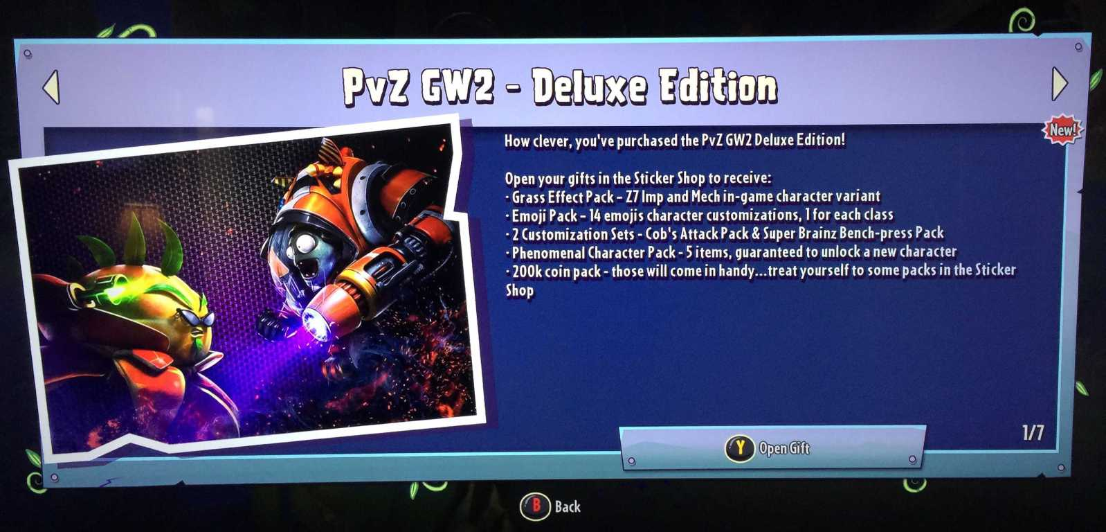 Solution: Garden Warfare 2 - Frosty Deluxe Edition Purchase Problem