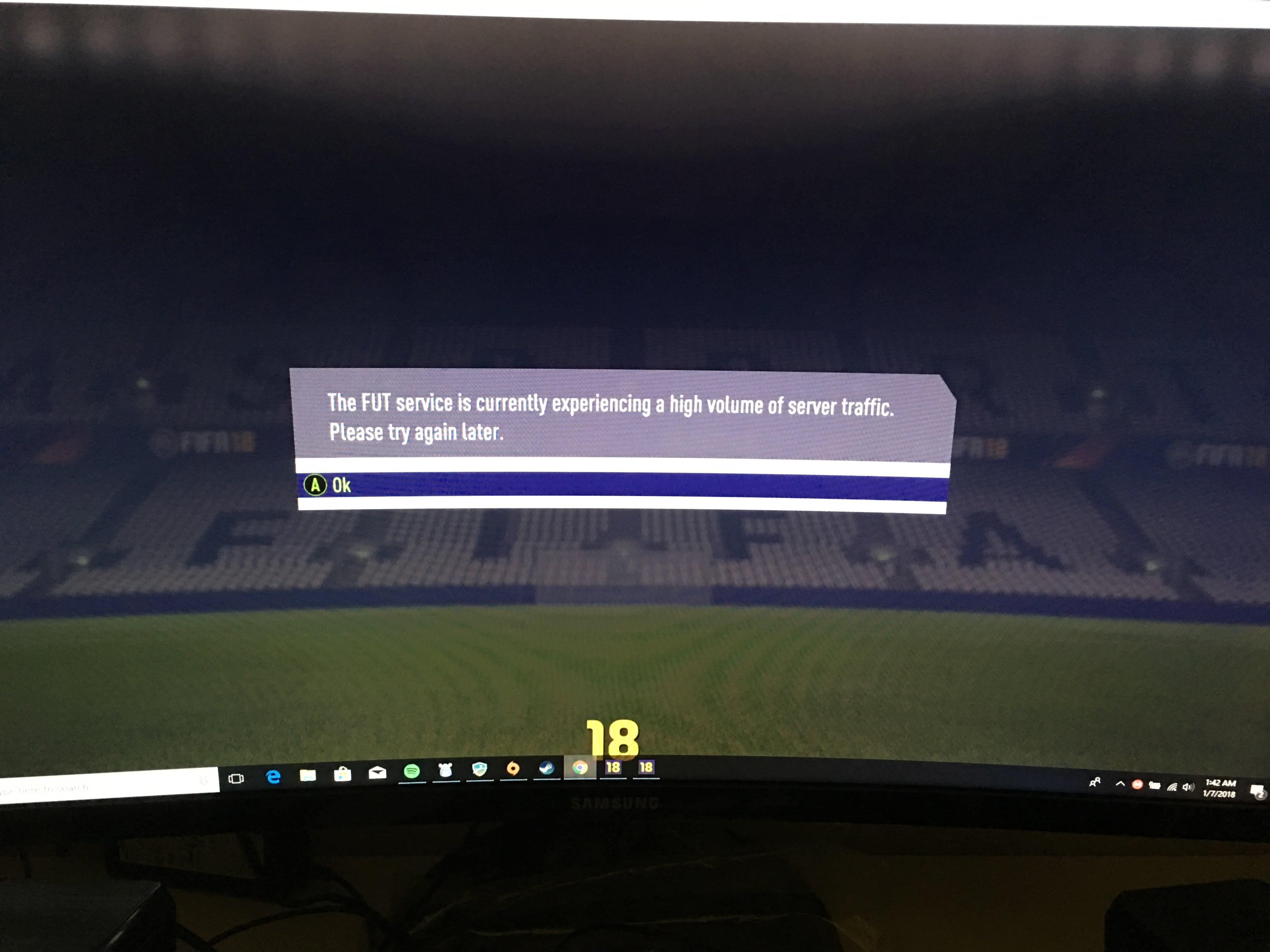 Solved: FIFA 18 Squad Battle EA SERVERS Disconnection