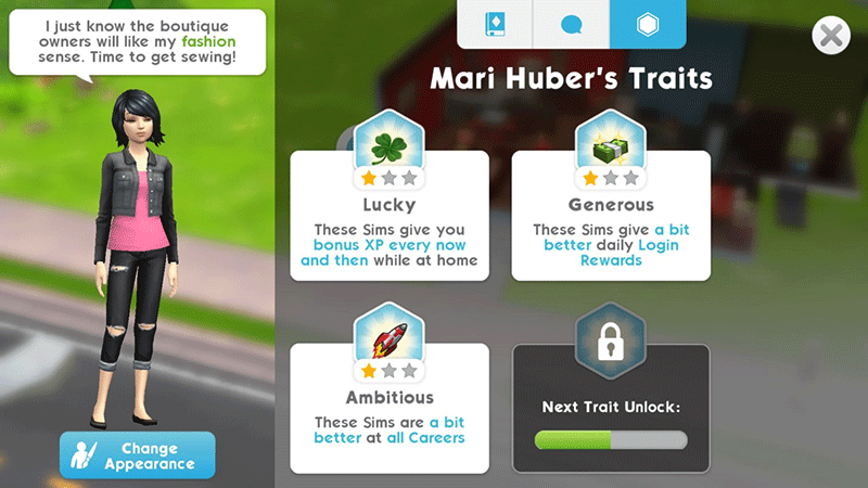 Traits The Sims Mobile