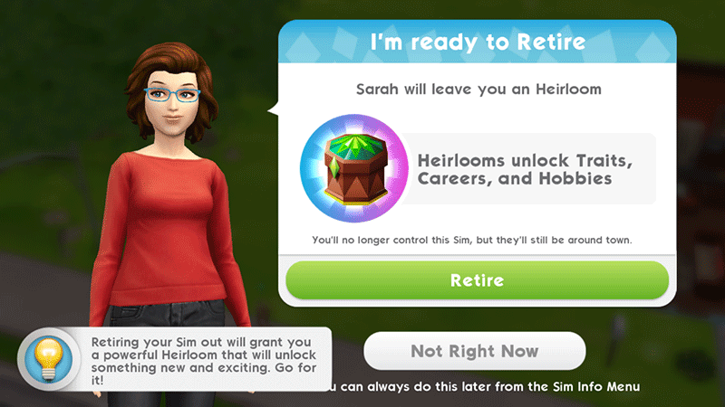 Ready to retire Sims Mobile