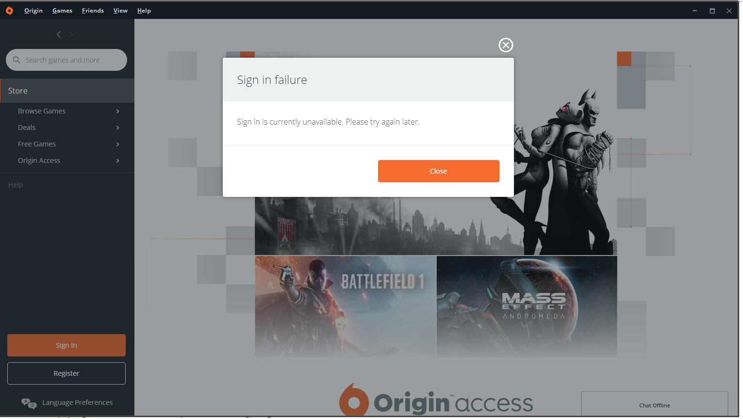 Origin Not Loading Up Properly Answer Hq
