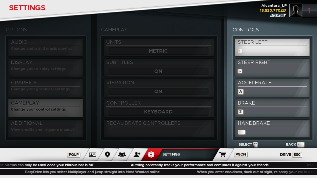 Solved: How to change controls on NFS: Most Wanted [PC