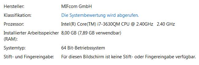 Das ist mein Rechner
