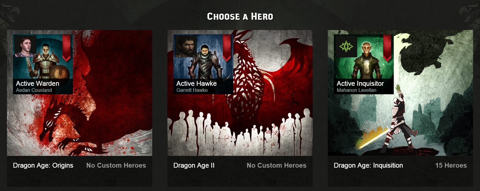 Hero choose