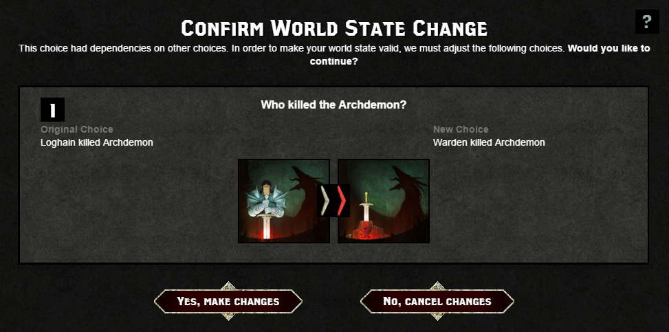 World state change