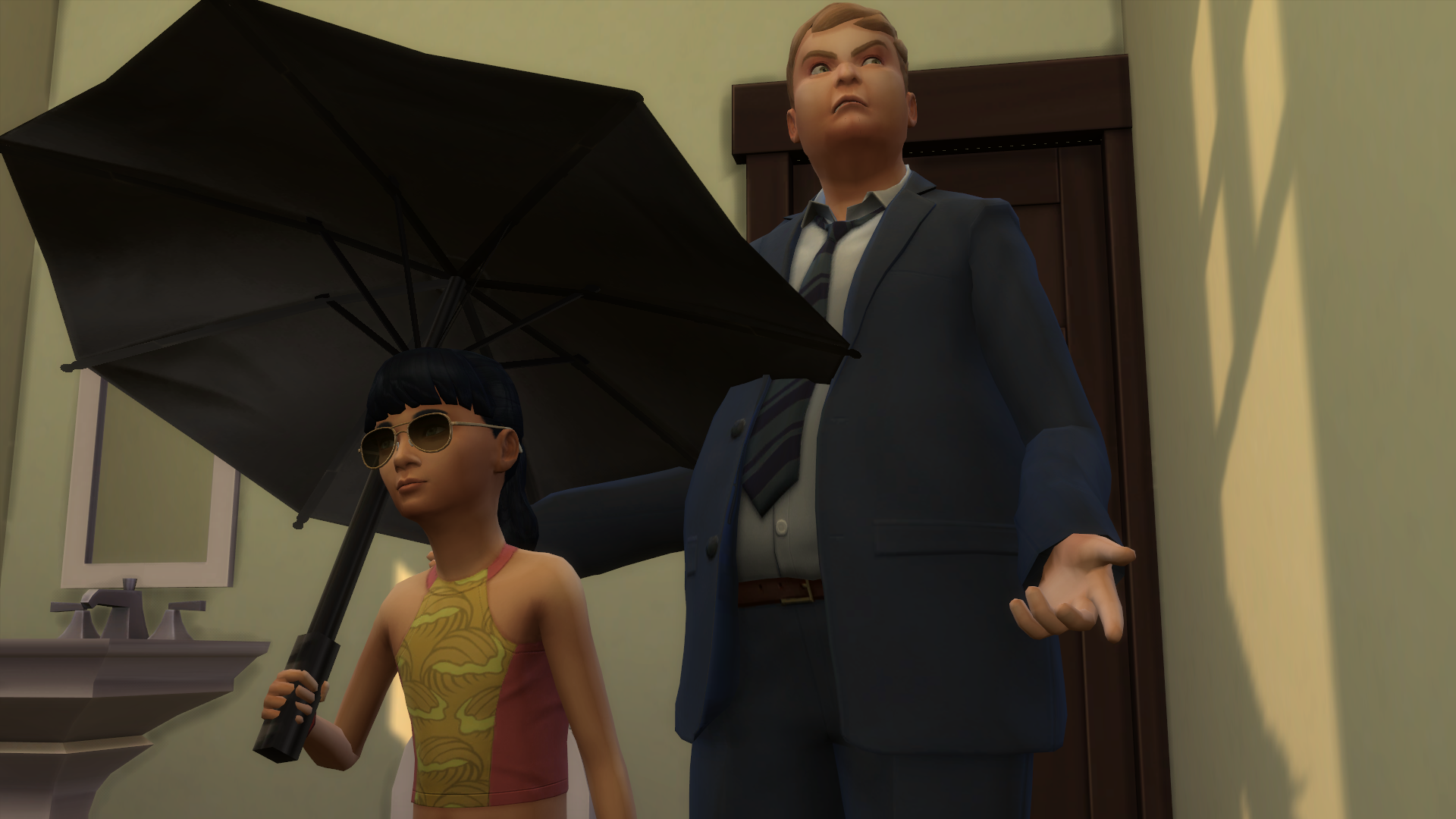 Solved: [FIXED] [S] Sims going indoors with the umbrellas - Answer HQ