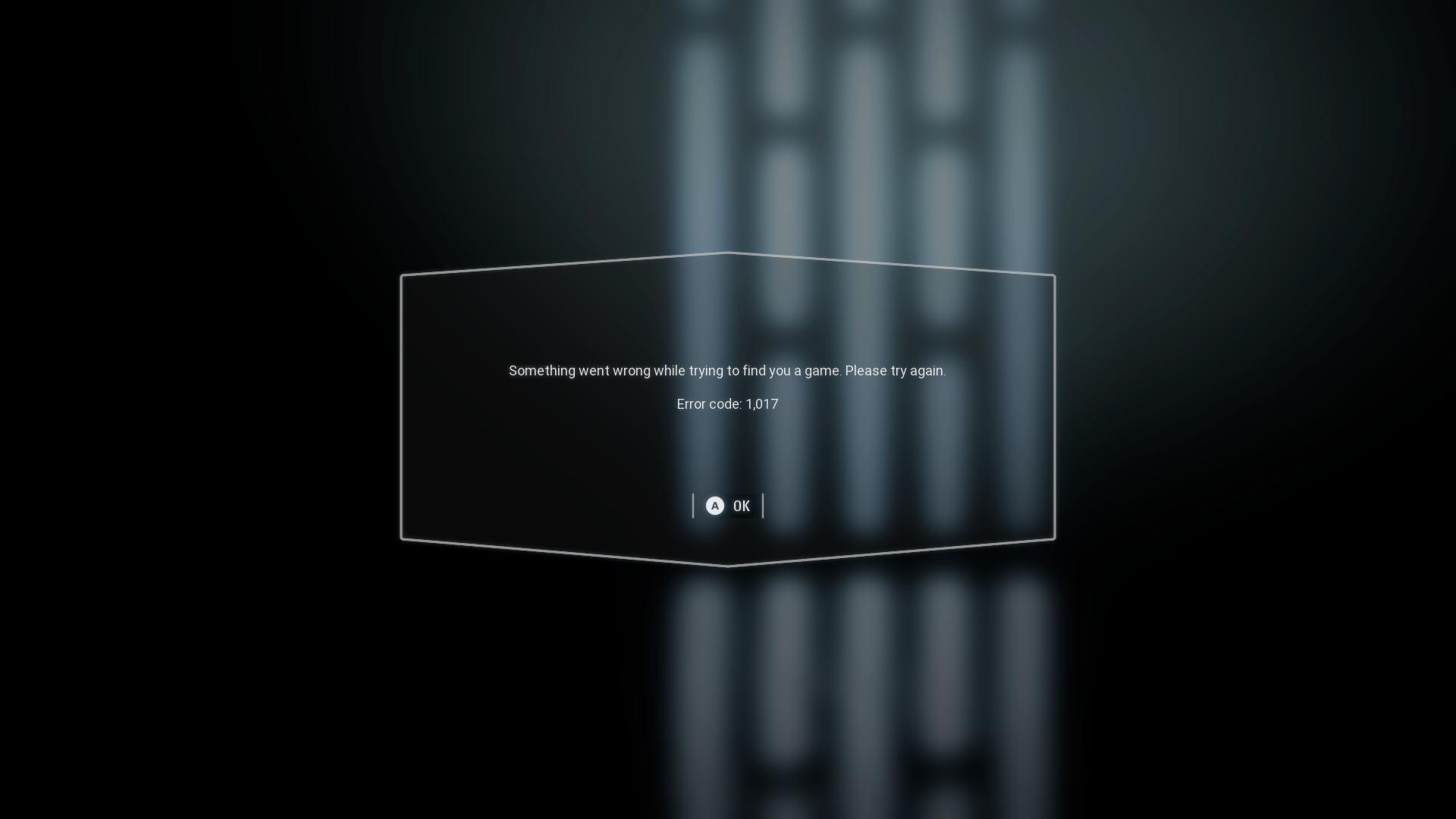 Error 1,017 on XBox One - Answer HQ