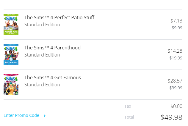 Solved: Sims 4 Build-a-bundle changing price after entering
