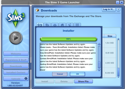 Solved: Sims with  Sims3Pack for Sims 3 won't install