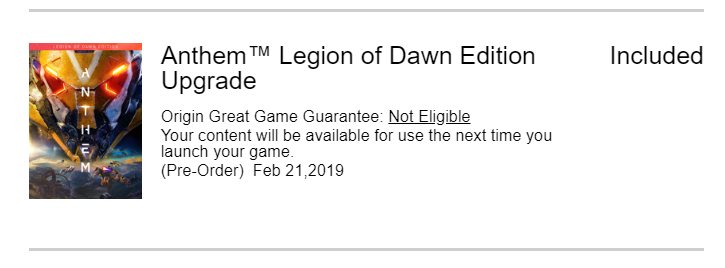 Legion of Dawn -upgrade