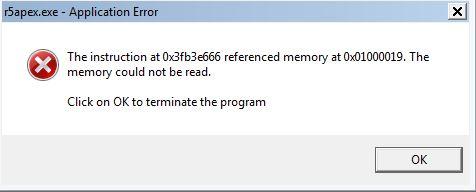 r5apex.exe error