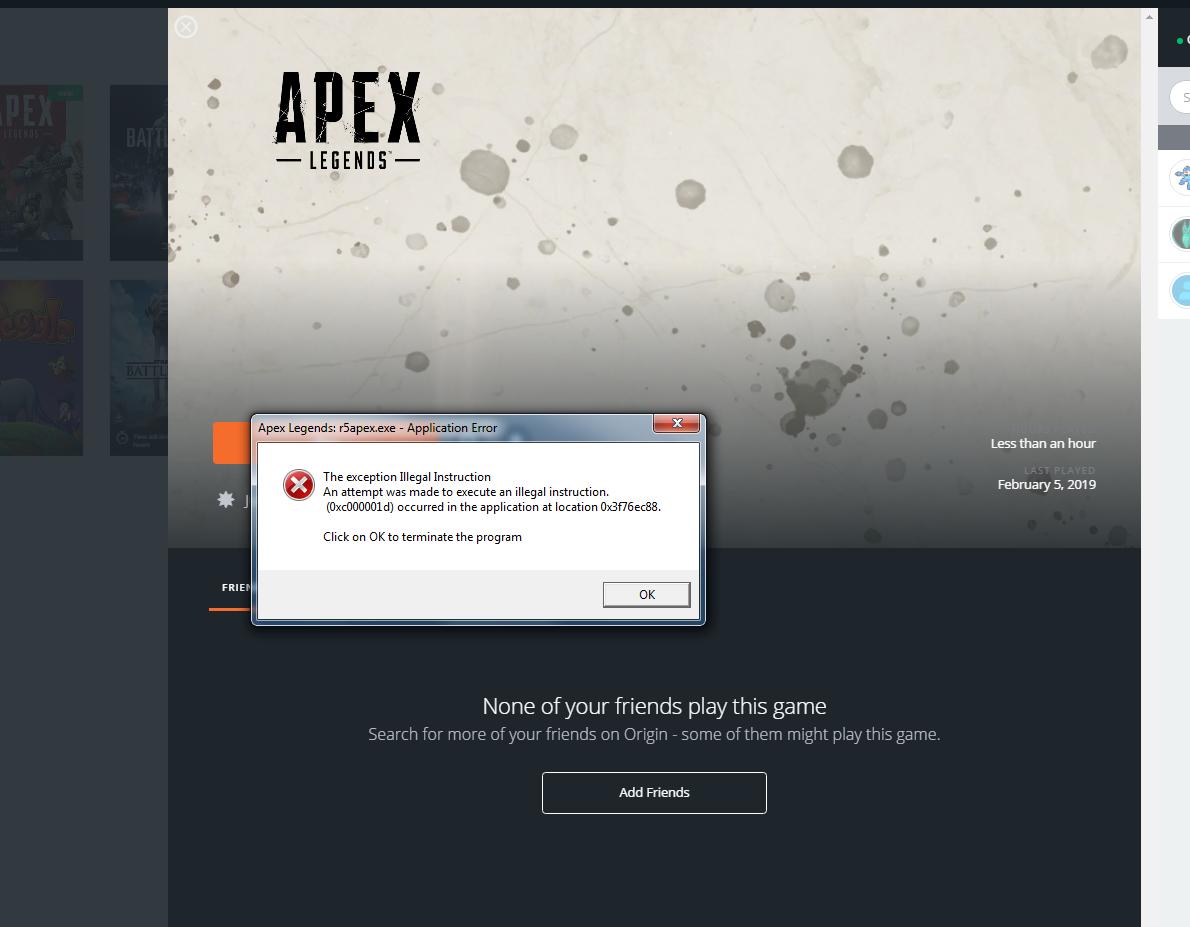 Apex] Origin Launching/Crashing Issues - Answer HQ