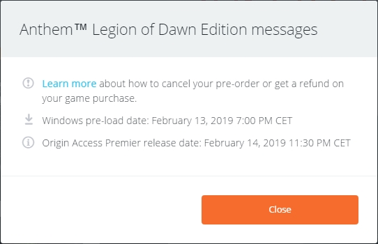 Anthem pre-orders and launch date & time - Answer HQ