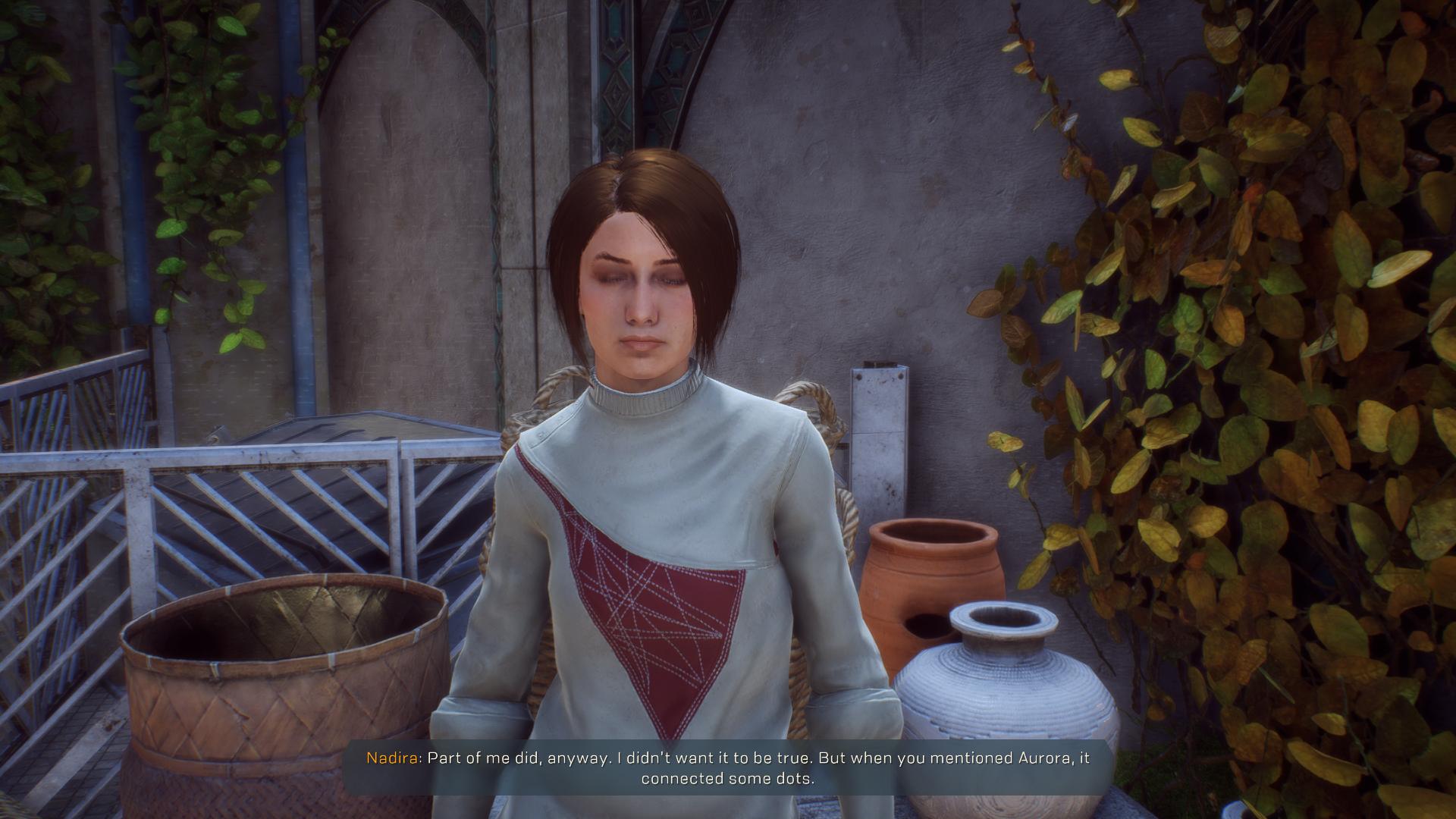 NPC Nadira dialogue break, stuck in conversation  - Answer HQ