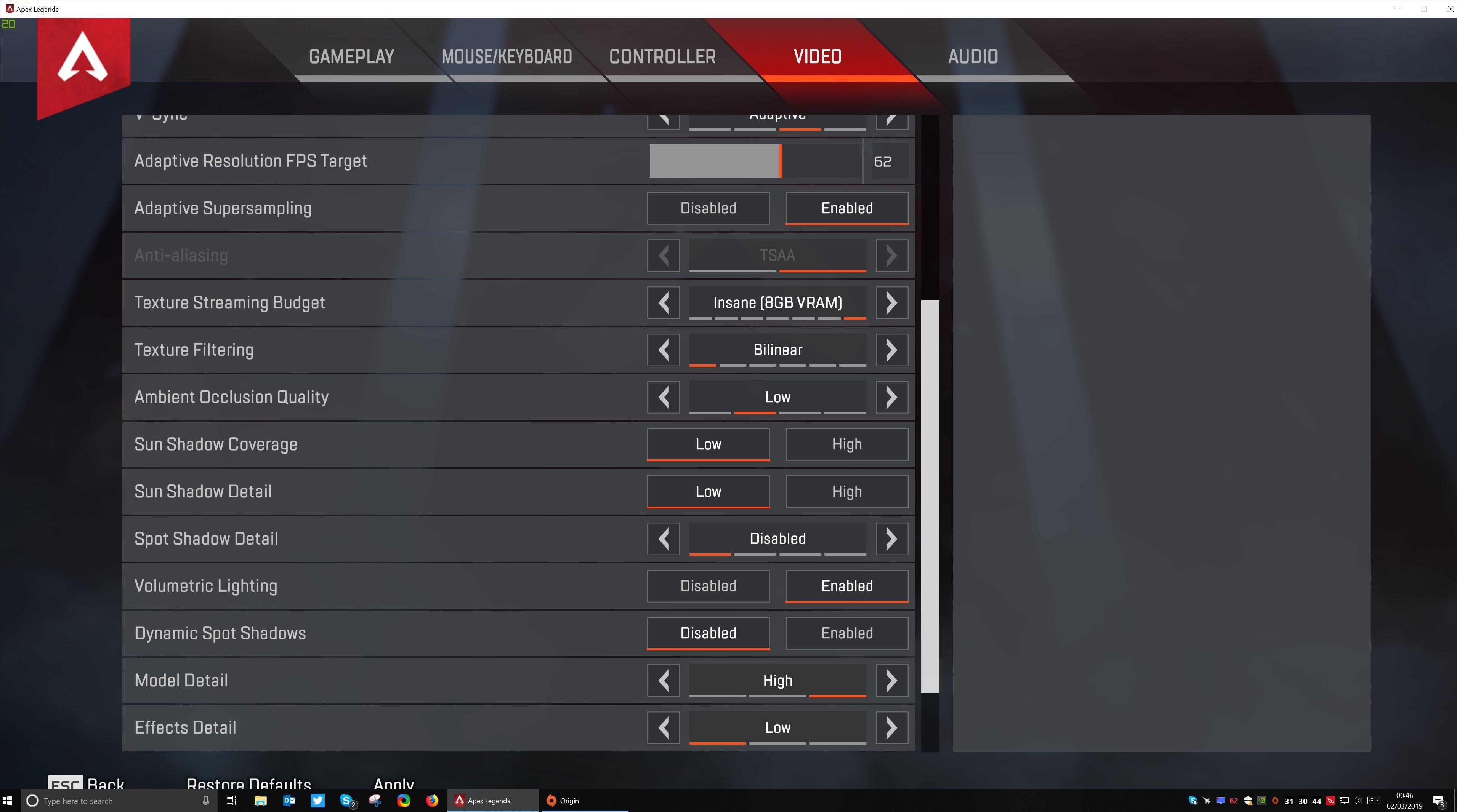 Apex Legends Full Screen Alt Tab