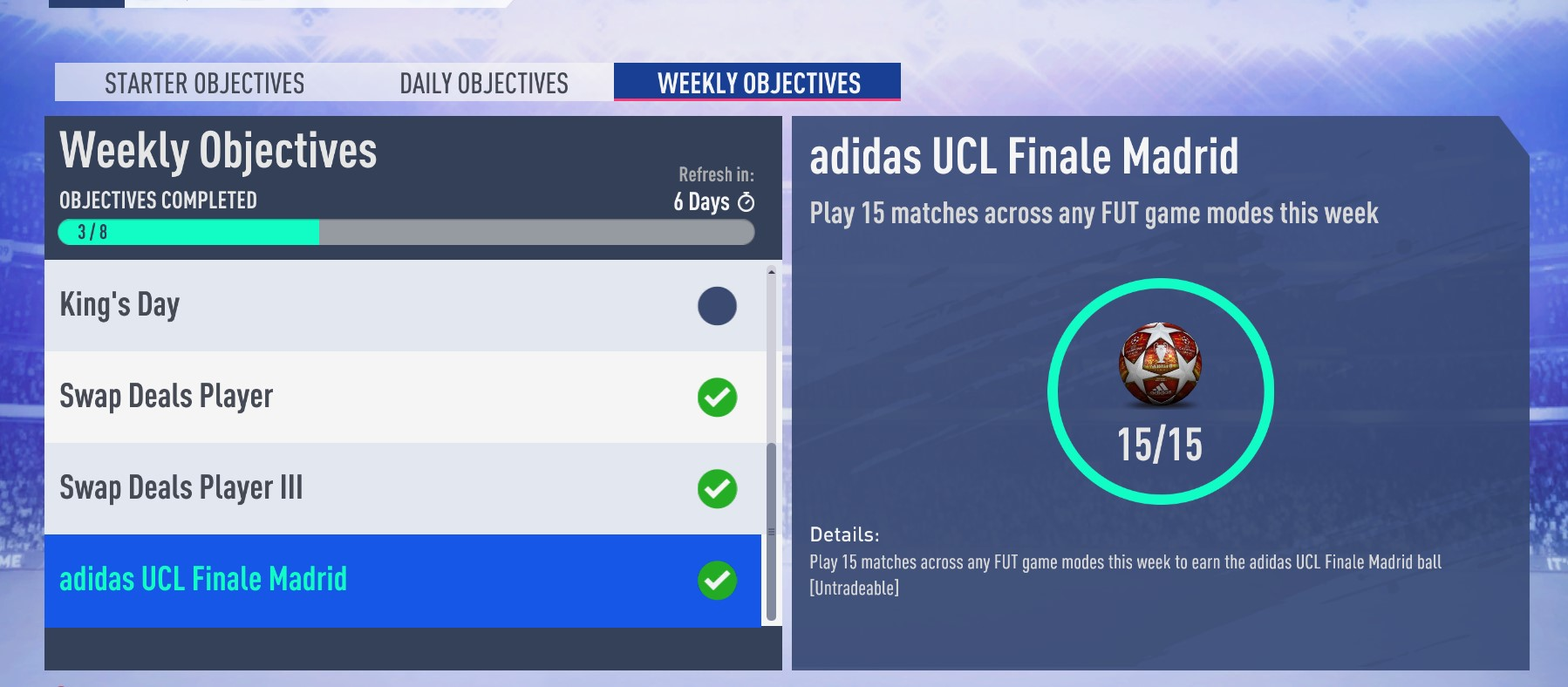 Adidas UCL Finale Madrid Ball has the wrong in-game model [PC