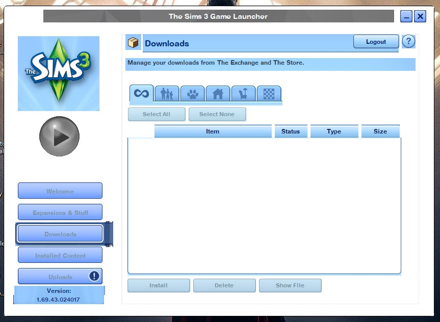 sims 3 launcher crashes when installing downloads