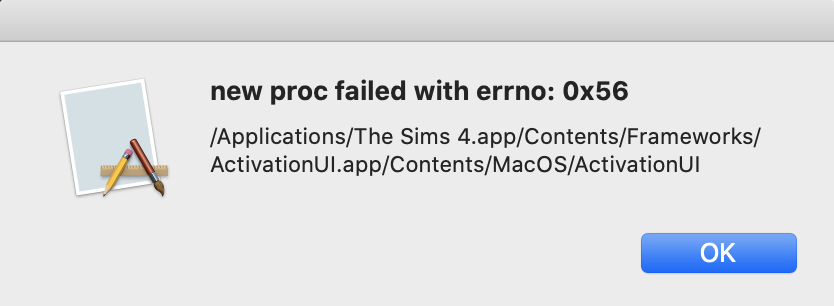 Solved: New update on mac causing sims have an error - Answer HQ