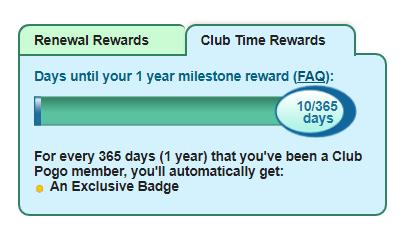 Pogo Club time rewards