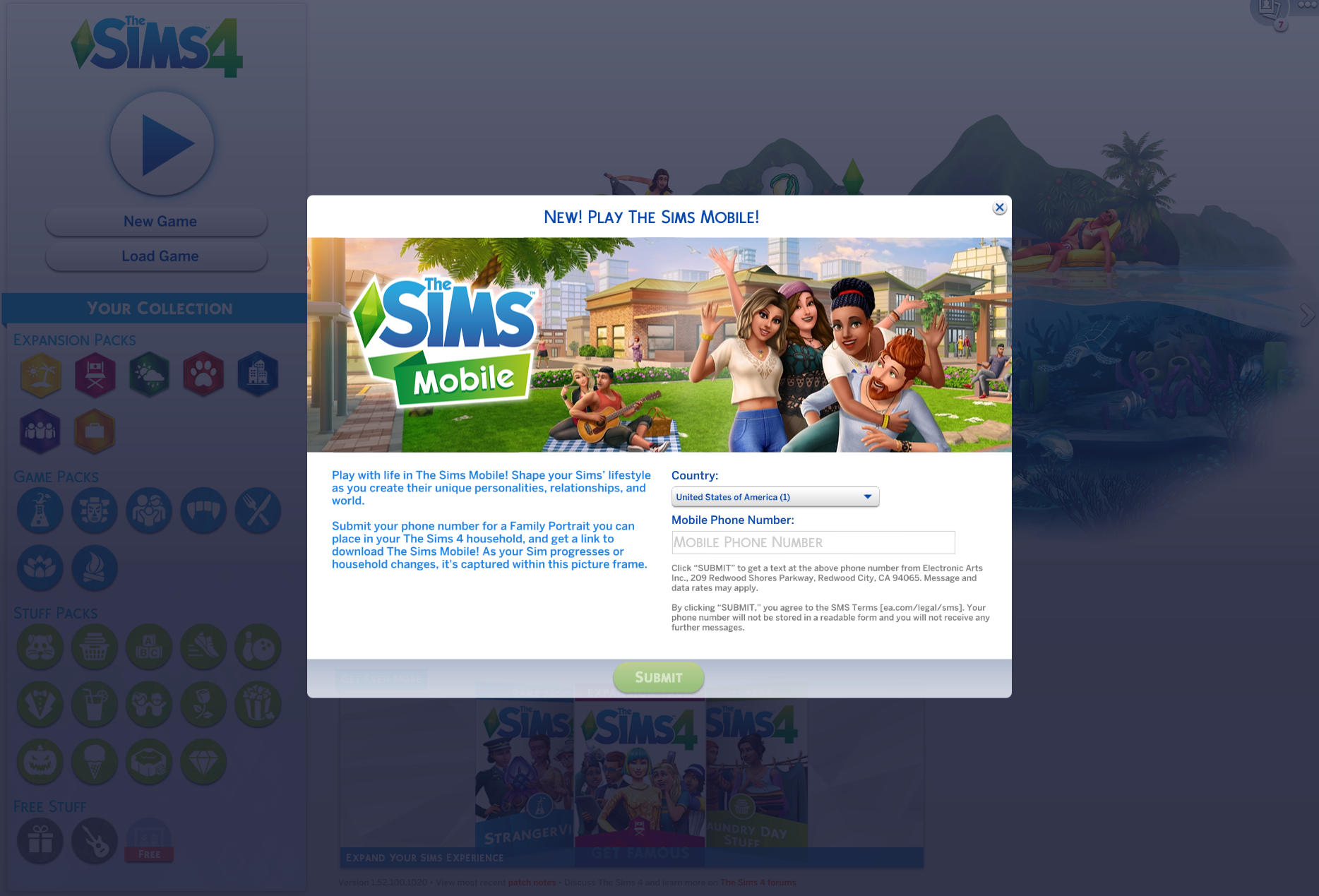 Solved: Sims Mobile Family Frame Promotion gives Error 8 when