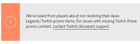 Twitch Prime Pathfinder Skin Missing/Gone/Disappeared - Page