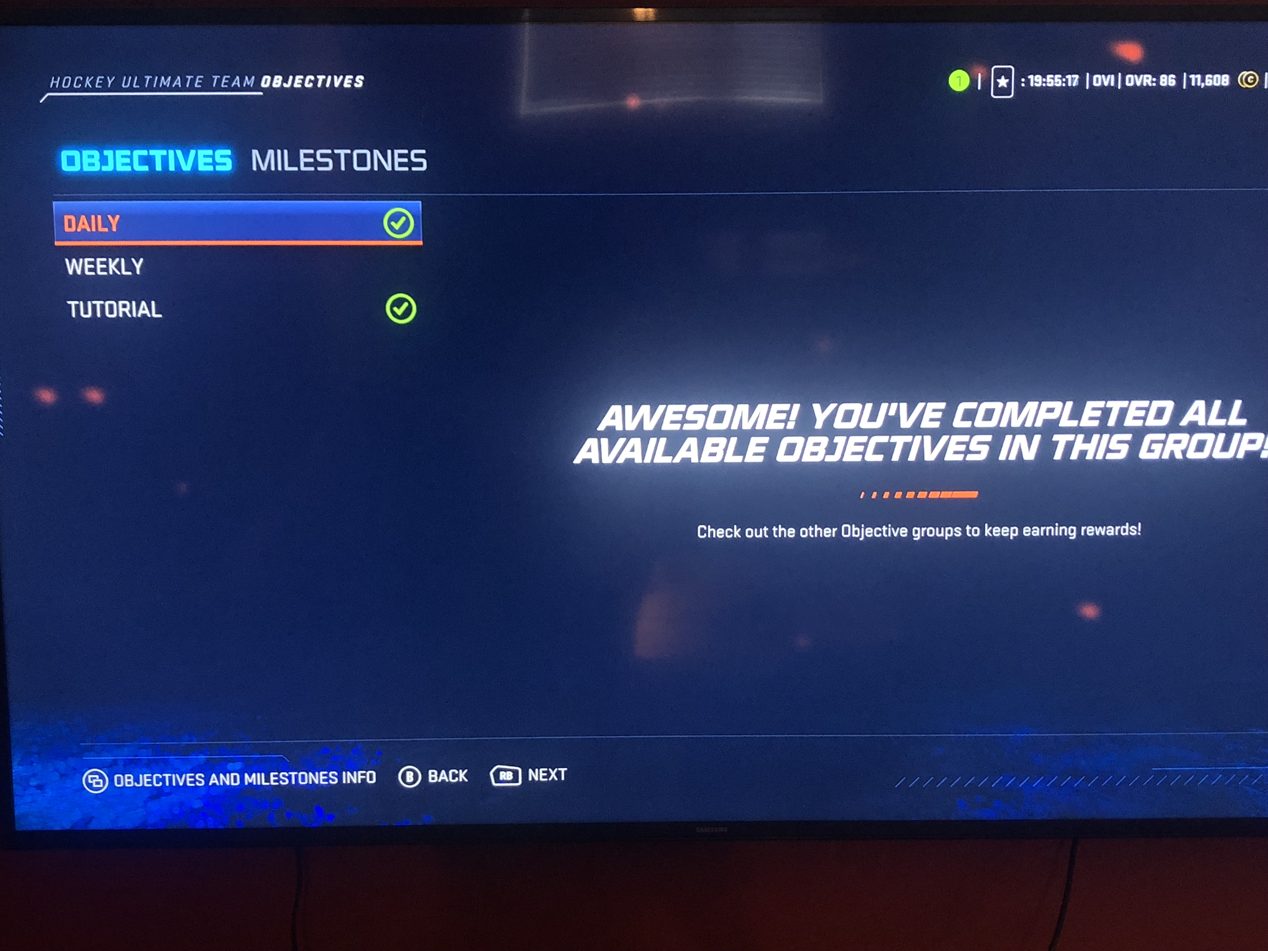 Solved: HUT daily objectives bug - Answer HQ