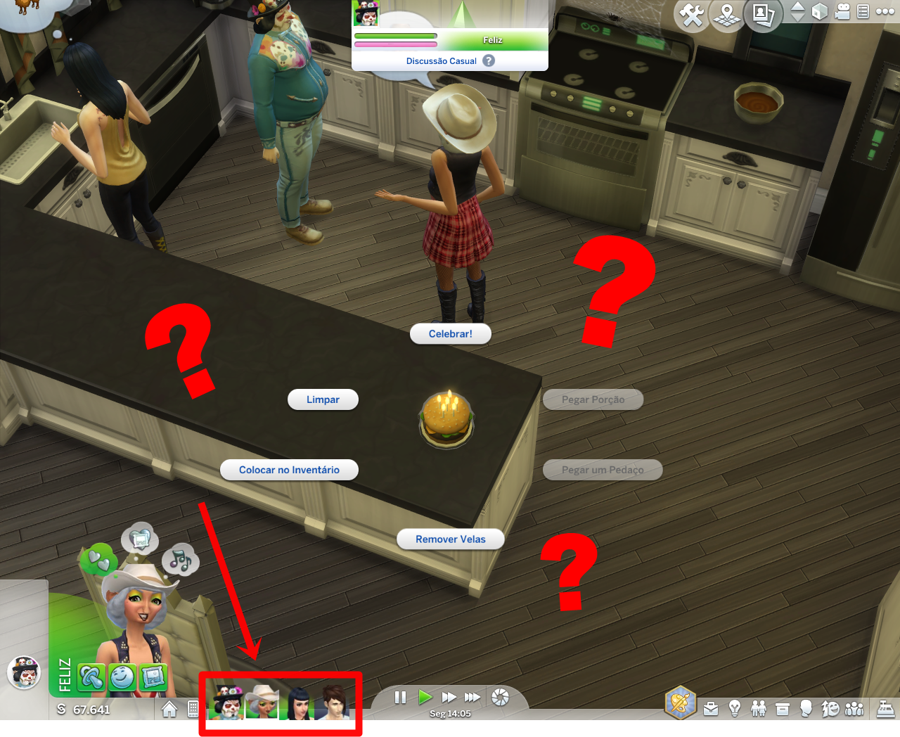Sims  Can T But Candles On Cake