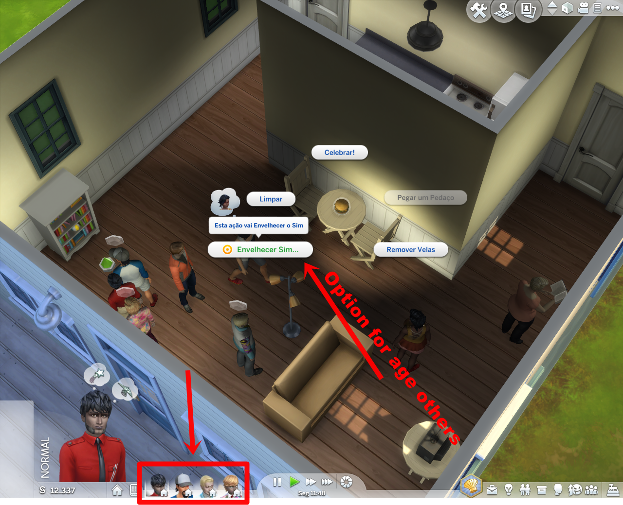 Sims  Can T Age Up With Cake