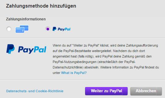 paypal zweites konto hinzufügen
