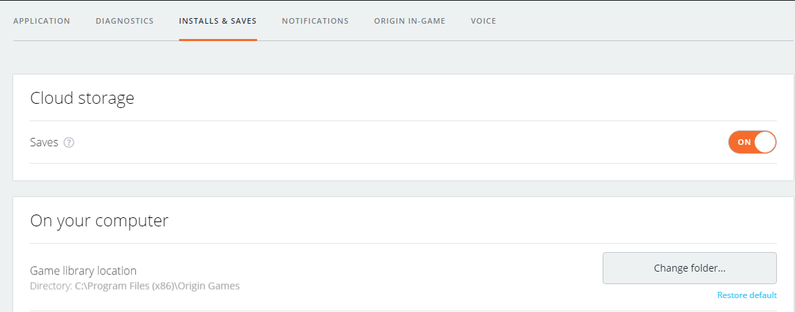 how to download saves from origin