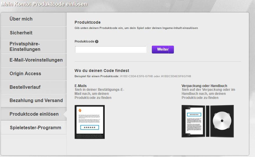 wo löse ich den produktcode ein - Answer HQ