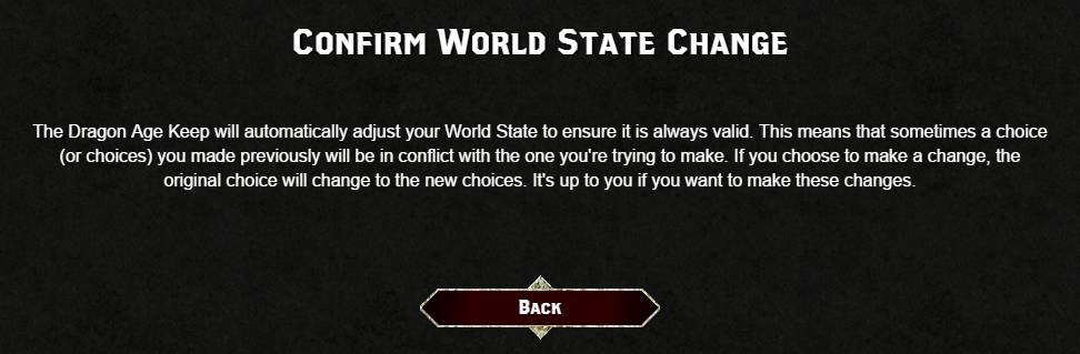 World state change